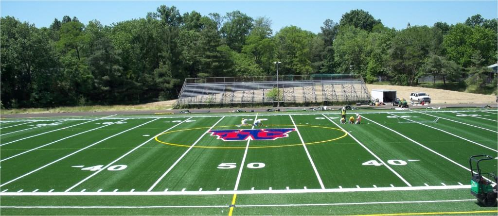 A new athletic field installed by Alpine Services