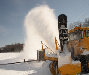 Big snow blower in action
