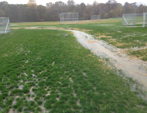 Athletic fields that don't drain well need laser grading
